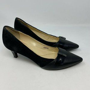 tahari anton pumps leather/suede sz 6M Black